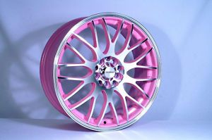 "17"" Yazmine Pink Alloy Wheels for Audi A3 TT ☆ Girly Cars for Female Drivers! Love Pink Cars ♥ It's the dream car for every girl"