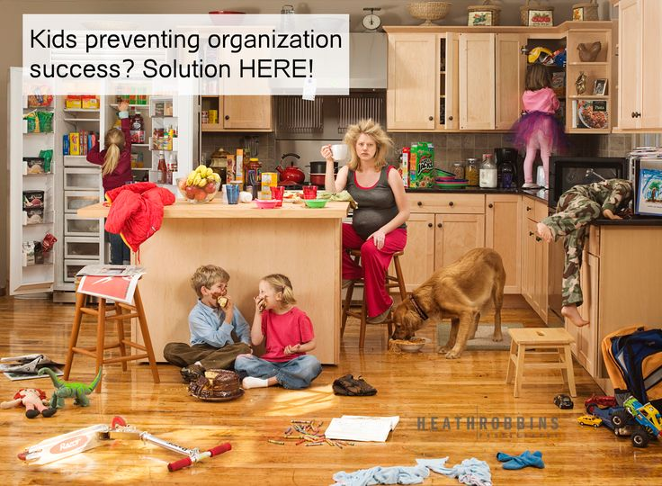 Kids Getting In the Way of Organizing Goals Tips and Tricks to get you though your organizing tasks.