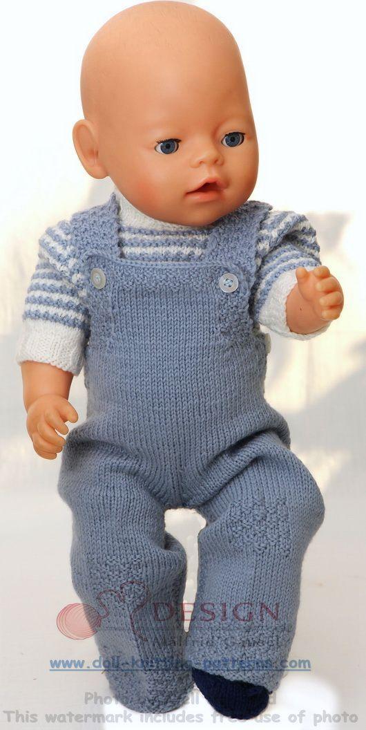 Tricot pour poupée - Modele classique pour l'automne