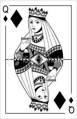 Queen of diamonds. Playing card. | tattoo ideas | Queen of ...