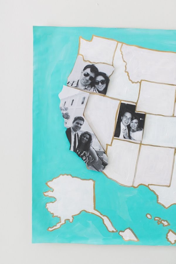 DIY Photo Map with the Paper and Packaging Board + A Giveaway: http://www.stylemepretty.com/2015/10/14/diy-photo-map-with-paper-packaging-a-giveaway/   Photography: Ruth Eileen - http://rutheileenphotography.com/
