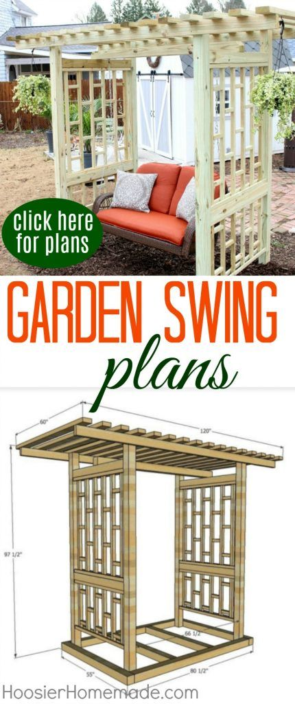 GARDEN SWING PLANS - Give this easy Weekend Project a try! Plans included!