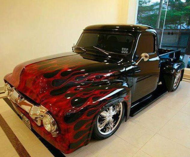 Lifted >> 1954 Ford Pick Up Custom | Classic Trucks | Pinterest | Ford, Cars and Sport truck