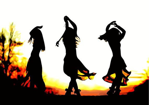 Check out this item in my Etsy shop https://www.etsy.com/ru/listing/475712426/the-sunrise-dancers-silhouette-stylish