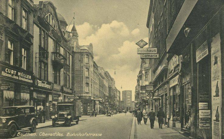 Bahnhofstrasse (ul. Dworcowa), pocztówka z 1941