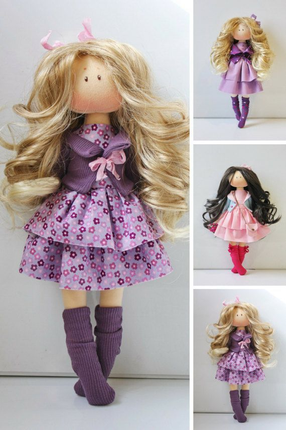 Rag doll Puppen Handmade doll Bambole Soft by AnnKirillartPlace