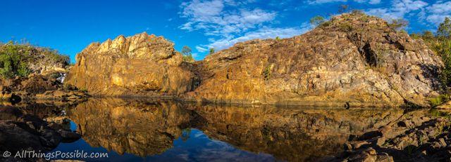 Reflected Beauty.   Upper Edith Falls in Nitmiluk National Park.