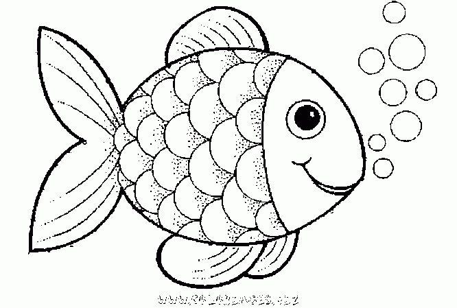 Regenbogenfisch Malvorlage