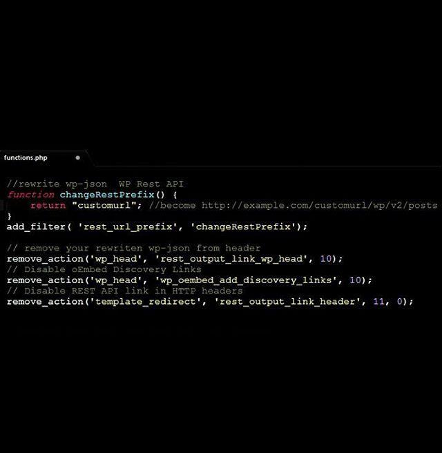 protect your wp-json / WP Rest API from others.. wp rest api can make someone easily scrape your website's content.. #wordpress #coding #php #json #javascript #stackoverflow #wpjson #wprestapi #codeispoetry #wpid #blogging #webdeveloper #webprogramming