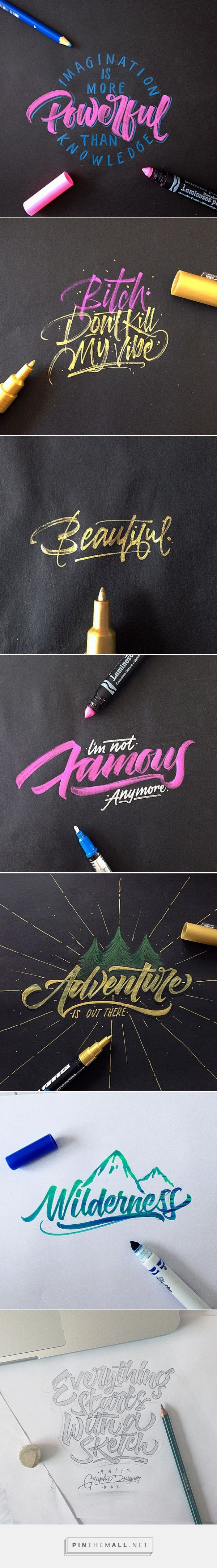Crayola & Brushpen Lettering Set on Behance, by David Milan