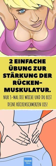 2 einfache Übung zur Stärkung der Rückenmuskulatur. #rücken #gesundheit #sch… – Lena B