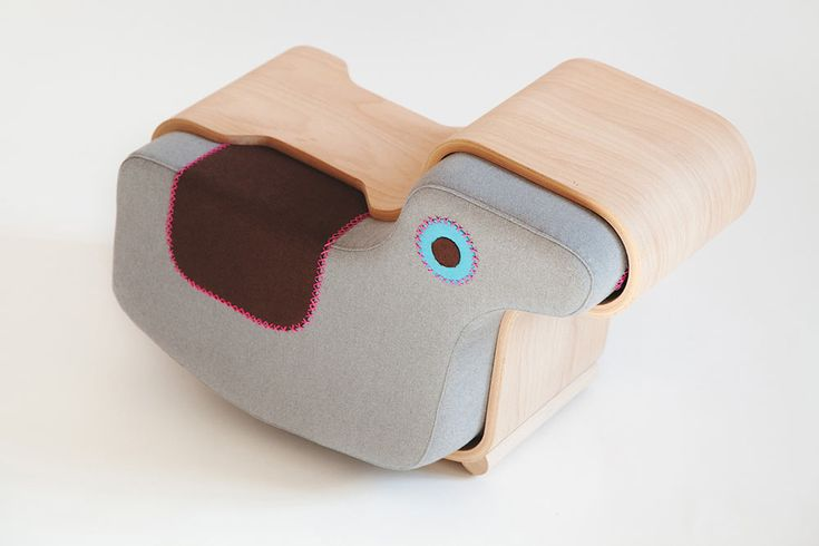 Modern, multifunctional animal furniture that also acts as toys