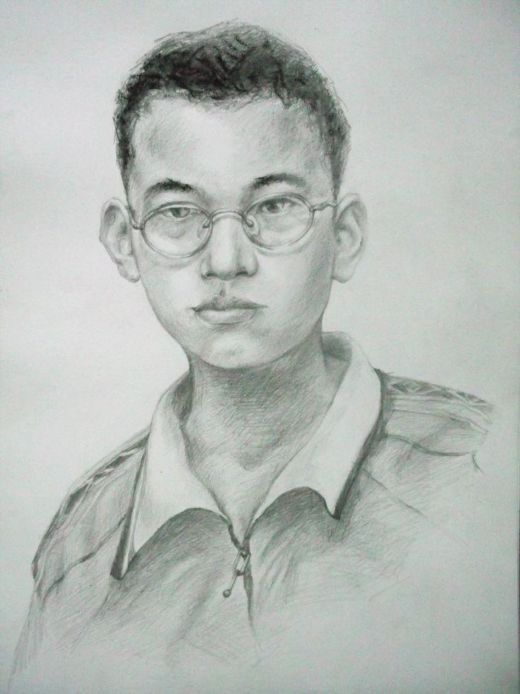 Art Drawing Portrait My Nephew by Sittichai Pijitam (cycnas)
