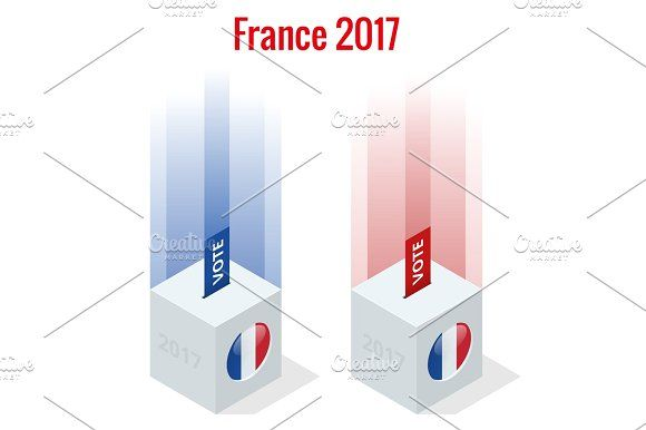 Presidential Election in France 2017, ballot box in front Graphics Presidential Election in France 2017, ballot box in front. by Golden Sikorka