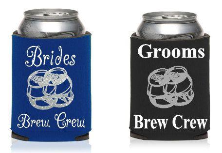 Brides Brew Crew Custom KOOZIE®, or can holder, Bachelorette party KOOZIE®, Bachelor party KOOZIE® by TJGonehunting on Etsy
