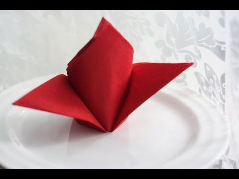 How to fold a napkin, Napkins, Folding napkins, Сервировка, Складывание салфеток, Servietten falten - YouTube