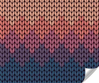 Naklejka - Bez szwu, gradient, wzór z dzianiny
