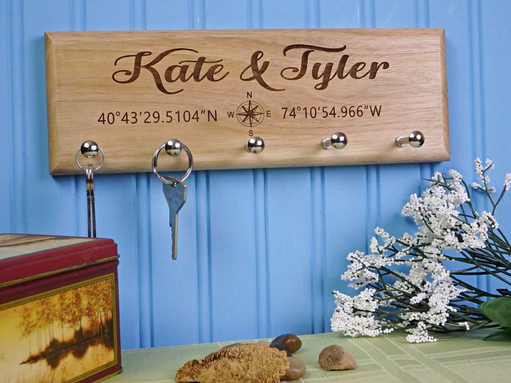 Housewarming Gift, New Home Housewarming Gift, Our First Home, House Warming Gift, Latitude Longitude Address Sign, Custom Key Holder by BestestEverGifts on Etsy https://www.etsy.com/listing/535039859/housewarming-gift-new-home-housewarming