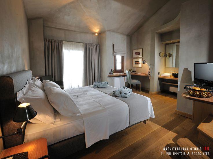 Bedrooms _ traditional | hotel room | modern equipment | Pelion | minimal | interior design | natural materials | architecture | construction _ visit us at: www.philippitzis.gr