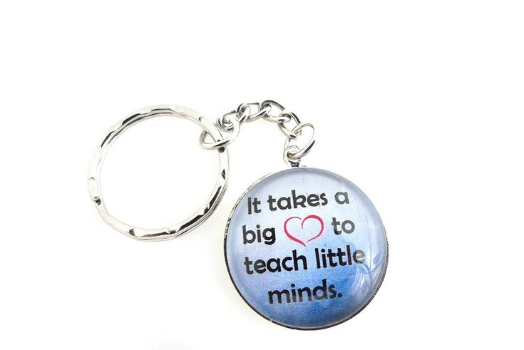 Excited to share the latest addition to my #etsy shop: Teacher Gifts, Teacher Keychain, Keyring, Gift For Teacher, Thank You Gift, Teacher Gift Ideas, Teacher Appreciation, Cabochon, Best Gifts http://etsy.me/2BWZFGh #accessories #keychain #silver #backtoschool #blue #