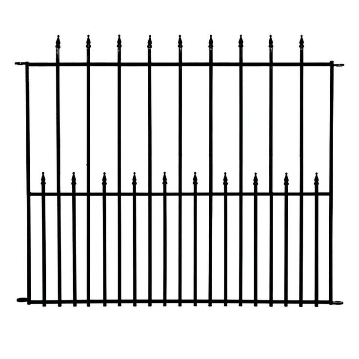 no dig grand empire steel decorative fence panel common 41