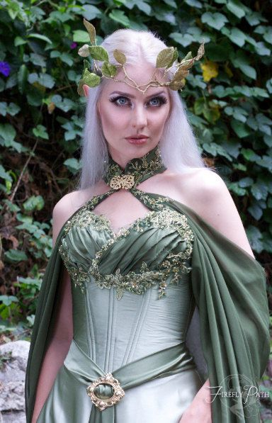 Elven Bridal Gown by FireflyPath on Etsy
