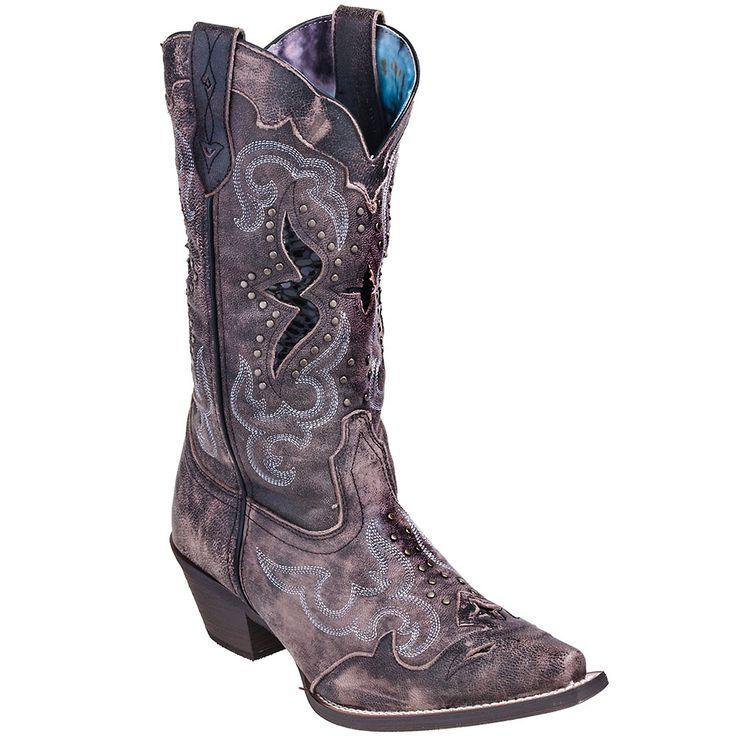 Laredo Boots Women's 52133 Snip Toe Black Leather Lucretia Cowboy Boot