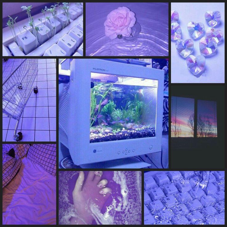 Purple, pastel, bright, neon, grunge, vaporwave,keyboard ...