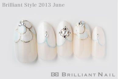 ブリリアントスタイル2013年6月号-ハンドとフットでお揃いネイル&ジューンブライダルネイルNo.02