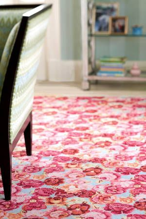 #DashAndAlbert Bed Of Roses Wool Hooked Rug