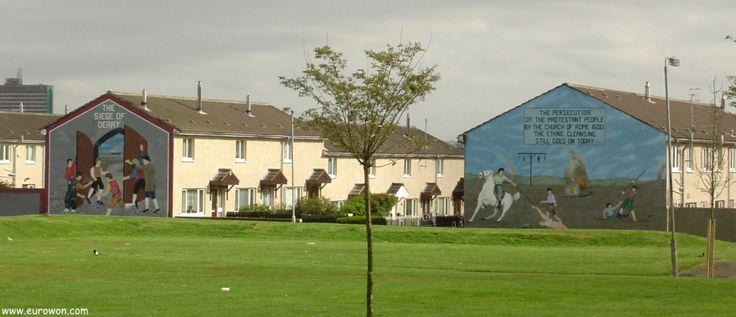 Murales dedicados a capítulos históricos en la capital de Irlanda del Norte