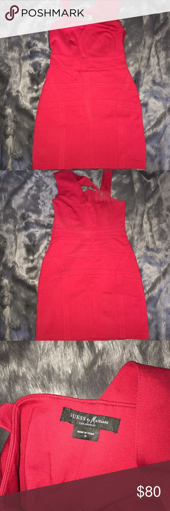 Guess by Marciano red dress sz medium worn once Guess by Marciano red dress sz medium worn once Guess by Marciano Dresses