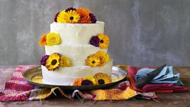 BBC Food - Recipes - Pumpkin celebration cake