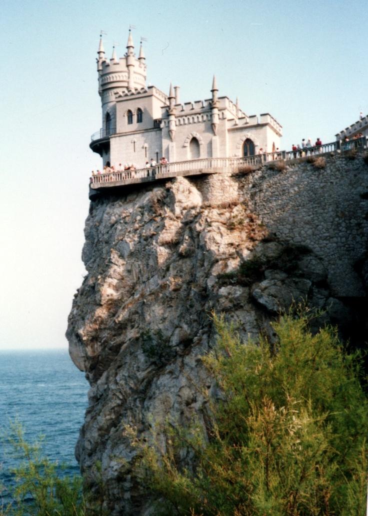 Swallow's Nest (Kırlangıç Yuvası) located in Yalta, in Crimea, the Ukraine