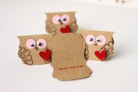 Teensy owls - love the googlie eyes!