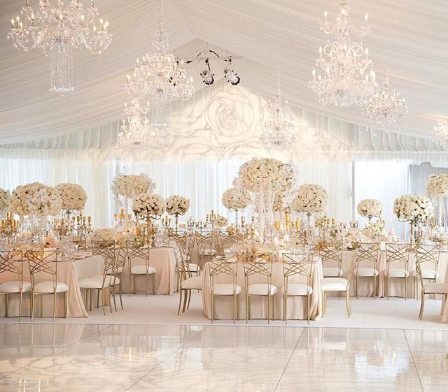 Regram Luxeeventrentals What A Better Way To Celebrate Love Than With A Cl White Weddings Reception Luxury Wedding Decor