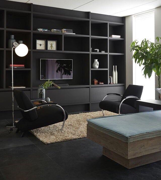 TV-meubel - Kastenwand
