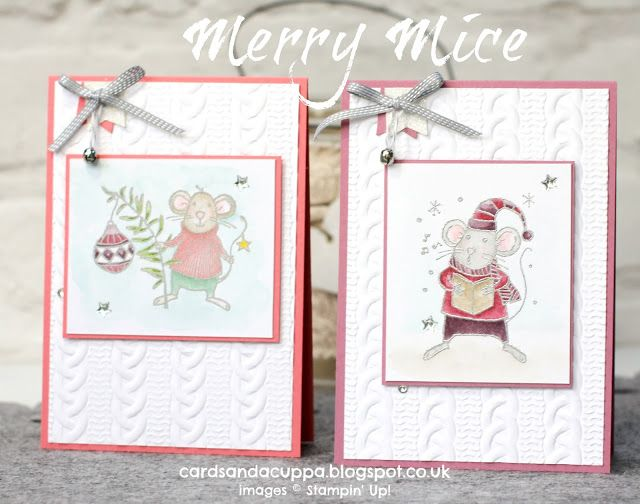 Sarah-Jane Rae cardsandacuppa: Stampin' Up! UK Order Online 24/7: Stampin' Up's Merry Mice, Two Ways and 25% off during November!