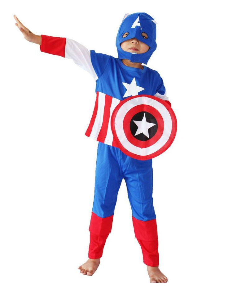 Kids Captain America  Cosplay for Halloween