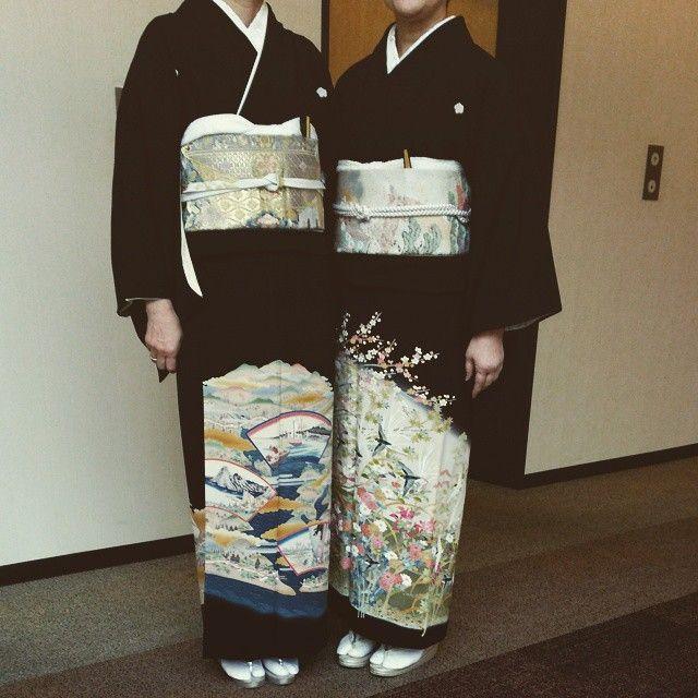 「姉と留め袖着てみました。次はいつかな #東亜和裁 #留袖#加賀友禅」