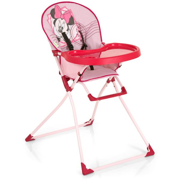 Hauck Hochstuhl Mac Baby Minnie Mouse Pink ❤ liked on Polyvore featuring baby girl, high chairs, kids and twins