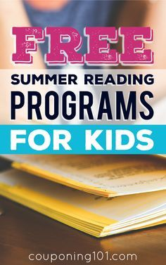 List of 14 FREE Summer Reading Programs for Kids! Get your kids excited about reading, plus they can earn fun prizes like free books and gift certificates!
