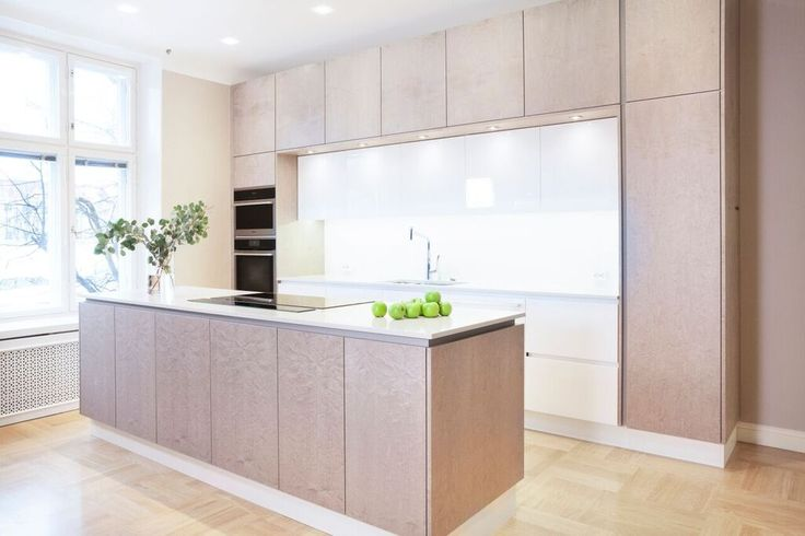 Bespoke kitchen By Kitzen in Bird's eye Maple.