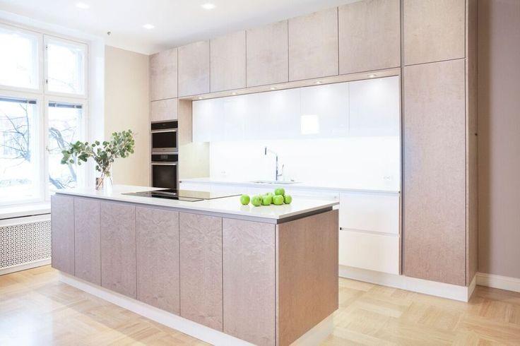Bespoke kitchen By Kitzen in Bird's eye Maple.