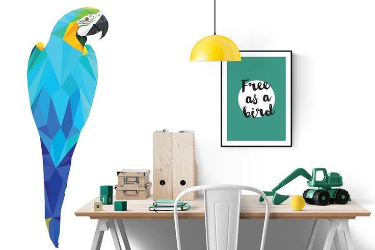 Behangposter ara | geometric wallpaper poster | Designed by Tinkle&Cherry | www.tinklecherry.nl