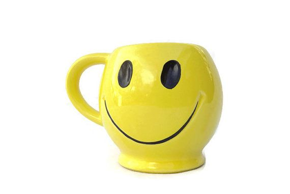 Yellow Coffee Cup McCoy Pottery Smiley by MichelleandCoVintage
