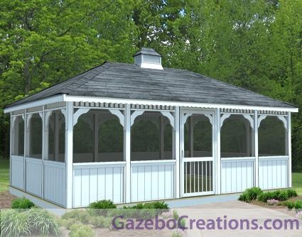 Design your own gazebo and landscape for Design your own gazebo