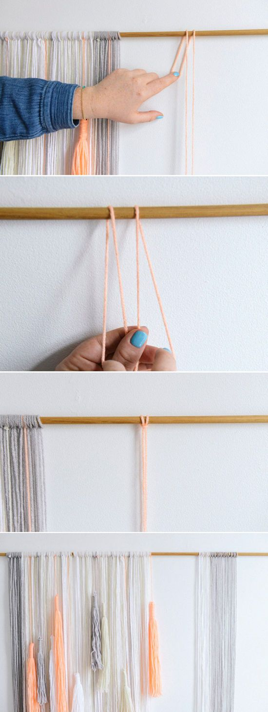 yarn wall hanging | designlovefest