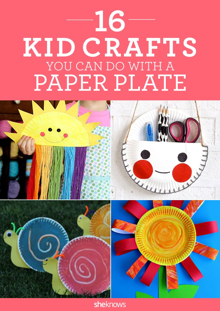 Cute craft alert! 16 kids activities you can make with a paper plate ... easy and adorable ideas for nursery school or kindergarten teachers!