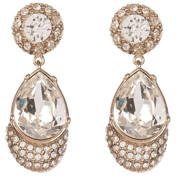 Givenchy Victorian-style magnetic earrings (£210) ❤ liked on Polyvore featuring jewelry, earrings, magnet earrings, crystal stud earrings, victorian earrings, fake magnetic earrings and magnetic earrings
